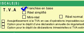 Franchise en base de TVA